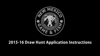 2015-16 Draw Hunt Application Instructions