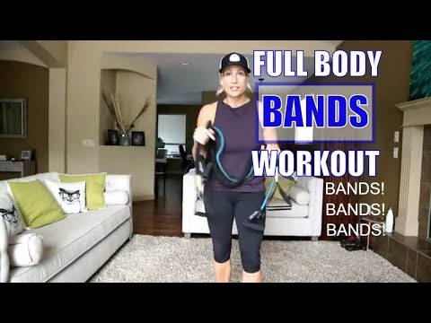 Full Body Band Workout -At Home Workout Using Only Bands!