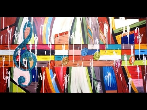 HOW TO PAINT LARGE ABSTRACT ART Interior Design Art Lessons