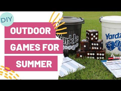 DIY OUTDOOR GAMES FOR SUMMER | EASY CRAFT IDEA