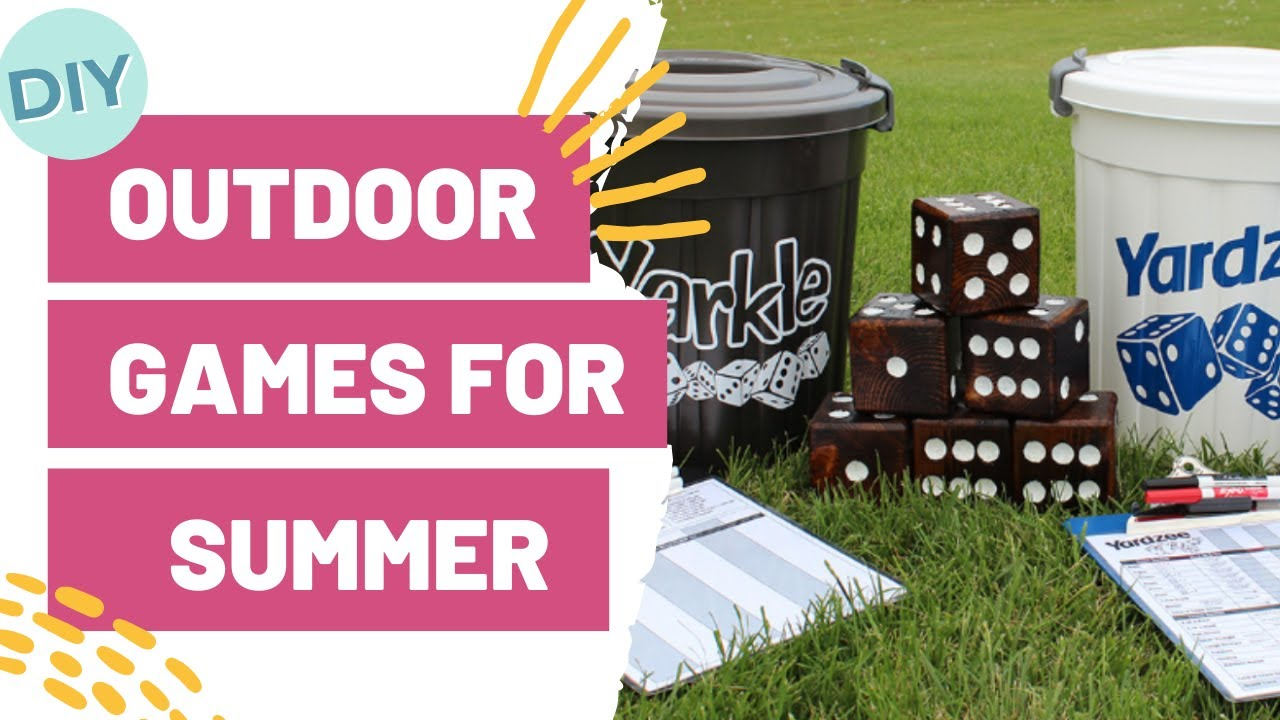 diy outdoor games for summer easy craft idea youtube