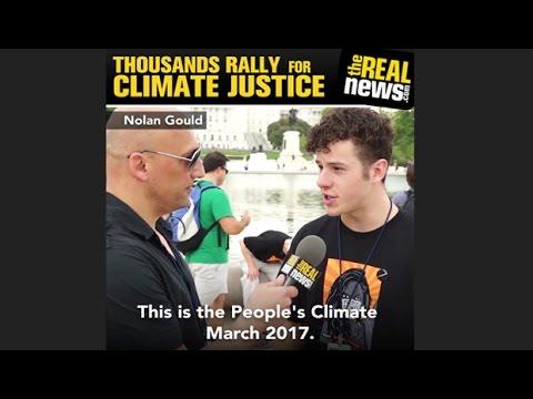 People's Climate March: Nolan Gould, Dallas Goldtooth, Dr. Ira Helfand, Sofia Black-D'Elia
