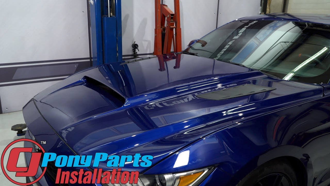 2015 2017 Mustang V6 Ecoboost Gt Cervini Hood Stalker Unpainted Fiberglass With Louvers Installation