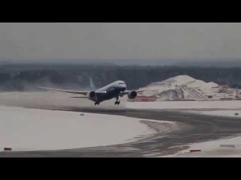 Внуково, взлет дримлайнера. Boeing 787 Dreamliner (N787BX), takeoff from Vnukovo (UUWW)