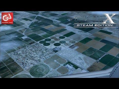 COME FLY WITH ME - California Food Fields from Santa Barbara KSBA (Flight Simulator X)