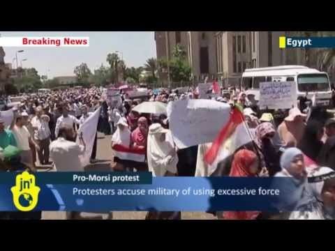 Pro-Morsi Protests Continue in Cairo: Thousands of Islamist women march on defence ministry