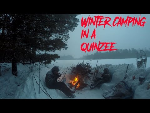 Winter Camping in a Quinzee