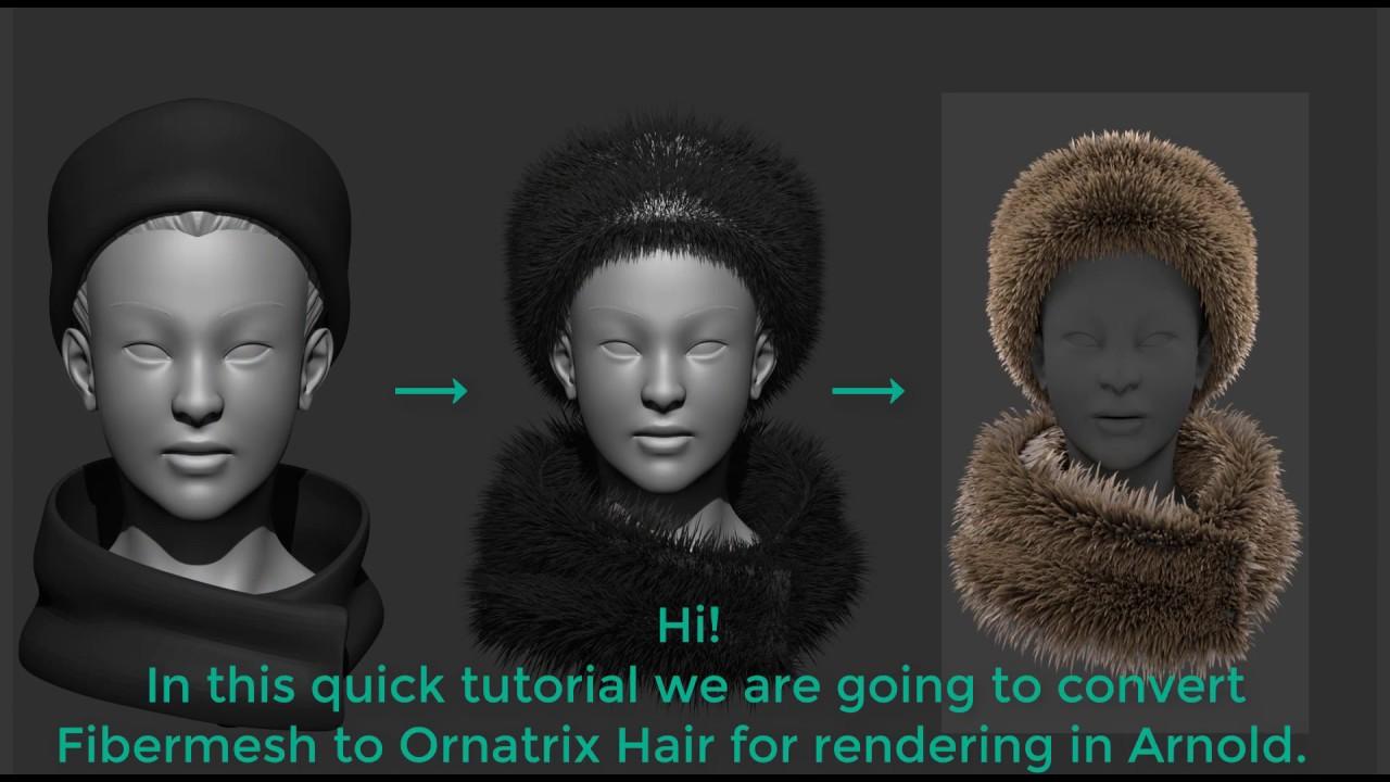 ZBrush Fibermesh to Ornatrix hair for Maya