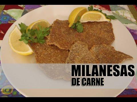 MILANESAS DE CARNE - YouTube
