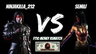 Ninjakilla_212 vs Semiij (FT10) $$$ MONEY REMATCH $$$