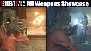 RE2 All Weapons Showcase (MP5, Gatling Gun, Rocket Launcher) - Resident Evil 2 Remake