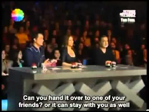 Aref Ghafouri Turkeys got Talent part 1 2 ENGLISH