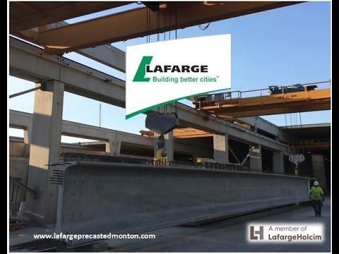 Lafarge Precast Edmonton Bridge Girder Production Sequence Alberta