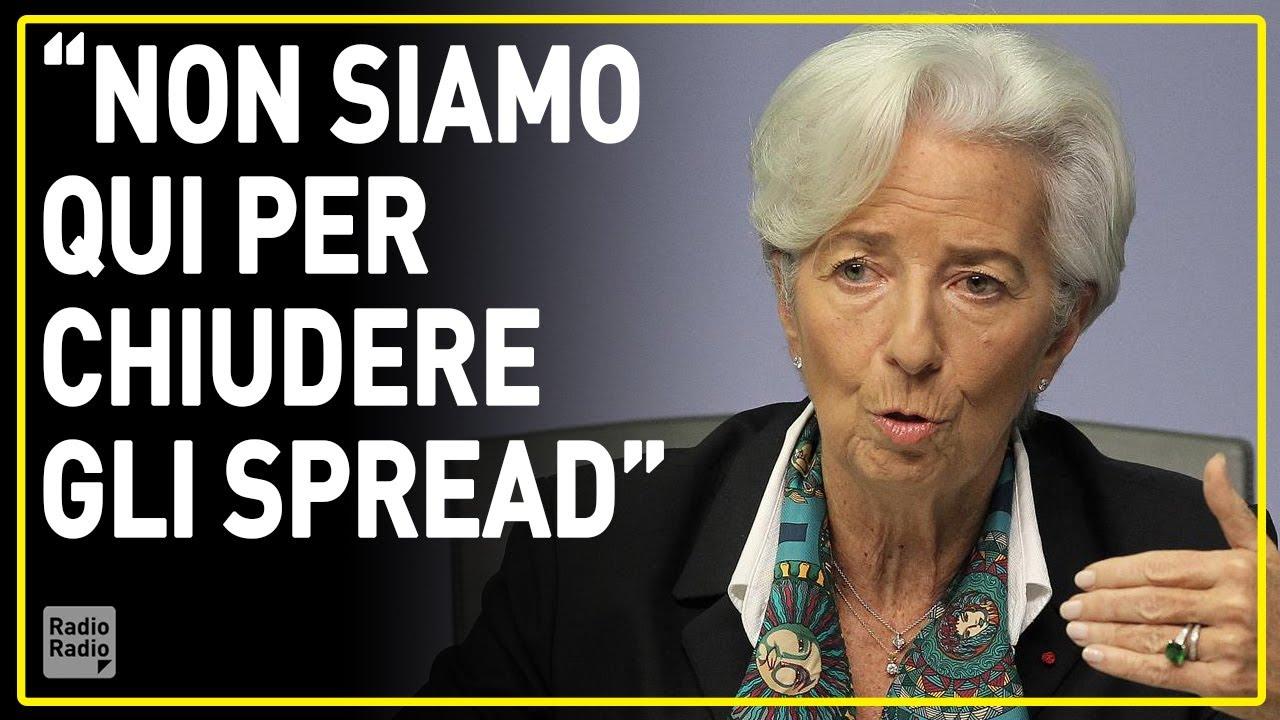 La frase che ha fatto collassare le borse italiane, dimissioni immediate per la Lagarde