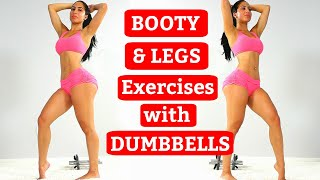 Dumbbells Workout | BUBBLE BUTT and Sexy Legs