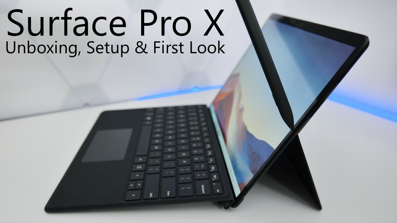 Surface Pro X Unboxing Setup And First Look Youtube