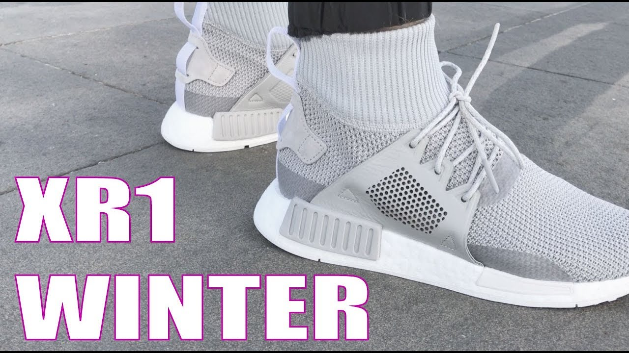 95d6a3cfa Adidas XR1 Winter Pack On Feet at NOIRFONCE Sneakers - YouTube