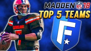 Madden 18 - Top 5 Teams To Build In Franchise Mode 2017 Video