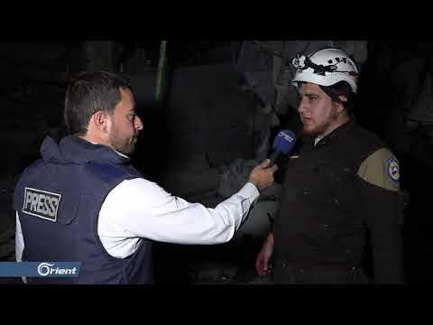 +18| مجزرة في سوق معرة النعمان يرتكبها طيران ميليشيا أسد الطائفية الحربي - سوريا