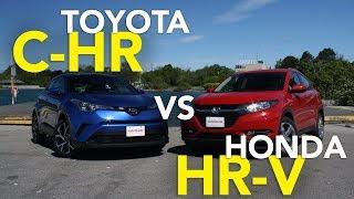 2018 Toyota C-HR vs 2017 Honda HR-V Comparison Test
