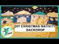 DIY CHRISTMAS NATIVITY BACKDROP | Fatema's Art Show