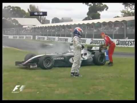 F1 - Felipe Massa Vs Kimi Raikkonen - Australia 2004.Kimi Spins and DNF the race.