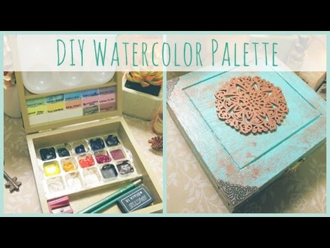 DIY - How To Make a Watercolor Paint Palette!