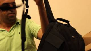 unboxing and review vivitar dks 18 photo slr laptop sling backpack
