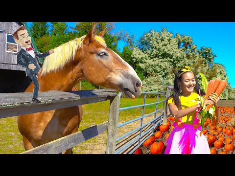 Science Class on Halloween Tractor Ride   Farm Animal Educational Video for Kids