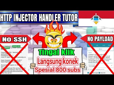 tutorial Http injector handler XL/AXIS  | sekali klik langsung konek #http injector indonesia