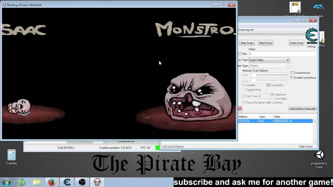 how to use cheat engine binding of isaac rebirth
