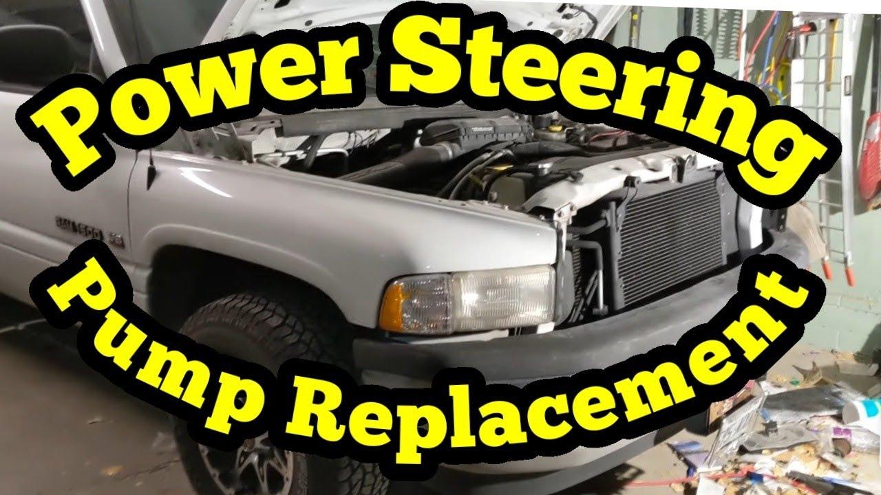 94-02  Dodge Ram Power Steering Pump Replacement