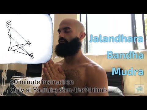Jalandhara Bandha Mudra (Chin Lock/Throat Lock) 30 minute Yoga Class for Pranayama Breath Retention