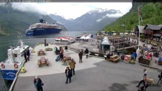 Webcam in Geiranger Port am 31.05.2016 - en249