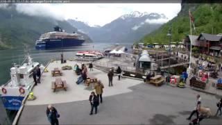 Webcam in Geiranger Port am 31.05.2016