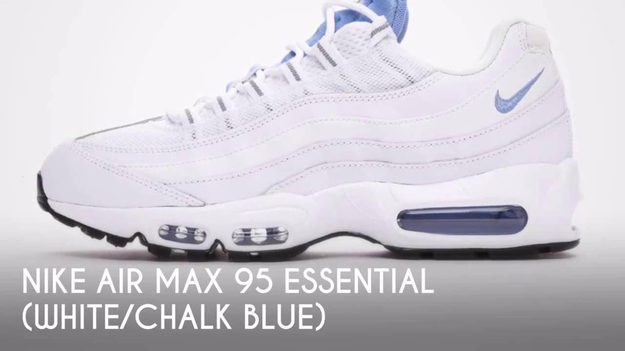 official photos f76e6 88aa3 NIKE AIR MAX 95 ESSENTIAL (WHITE CHALK BLUE)  SNEAKERS STAR