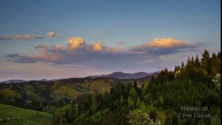 271 Time Lapse Black Forest Sunset Mountains | Zeitraffer Schwarzwald Berge Sonnenuntergang 4K