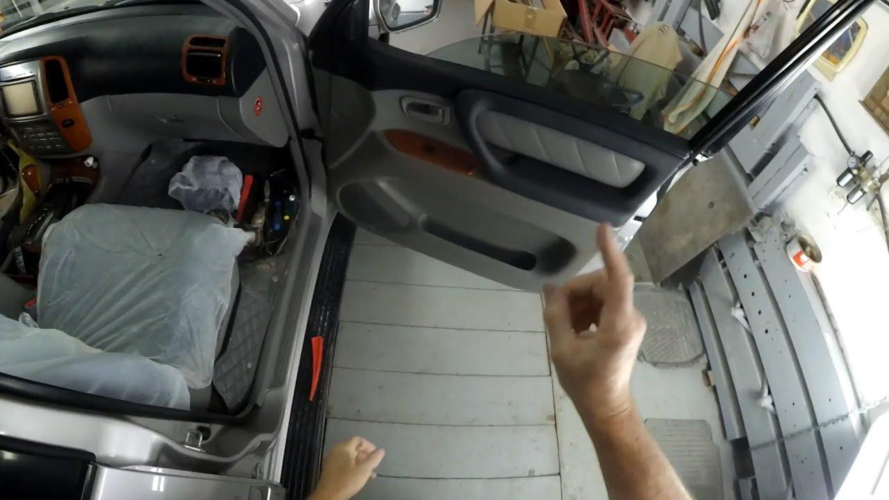 Как разобрать переднюю и заднюю двери автомобиля Toyota Land Cruiser 100.