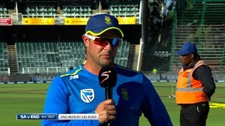 SuperSport   South Africa v England   4th Test Day 4   Interview with Mark Boucher