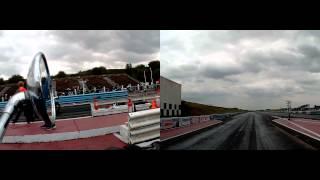 Triumph Rocket 3 Vs Aprilia Tuono 1000 Factory Drag Race At Bulldog Bash 2015.race 1