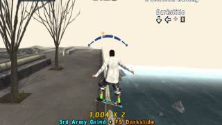Tony Hawk Pro Skater 4 San Francisco Darkslide the Waterside Railing