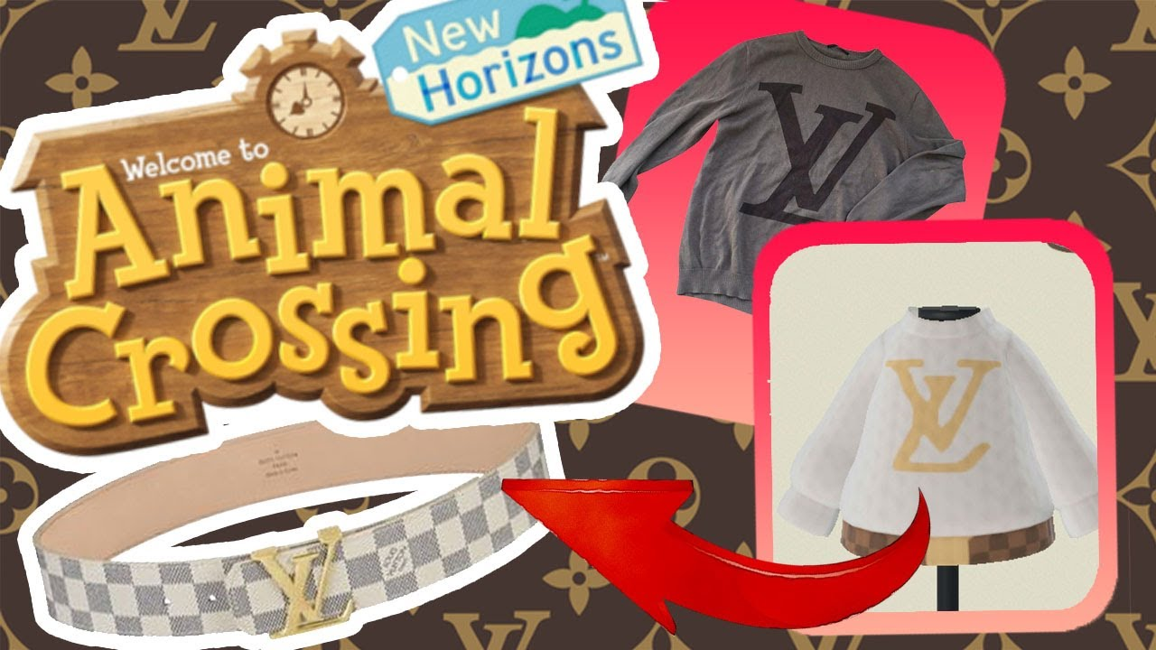 Animal Crossing New Horizons Louis Vuitton Sweater With Belt
