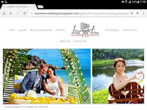 Seychelles Wedding Photographer Website Design by MAC Design Inc