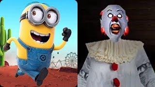 Despicable Me Minion Rush vs Pennywise Clown Granny Horror Escape Game