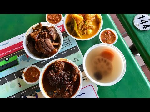 Eurasian food in a hawker centre in Singapore! INCREDIBLY RARE!