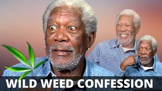 """You just smoke enough marihuana..."" Morgan Freeman on how he keeps his energy up :-)"