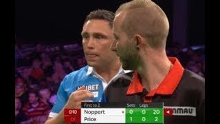 Gerwyn Price vs. Danny Noppert Incident - 2018 PDC World Grand Prix