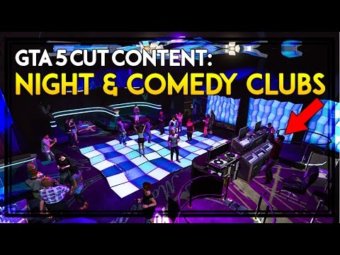 GTA 5 CUT CONTENT PART 5: NIGHTCLUBS, COMEDY CLUBS & DANCING MINIGAME