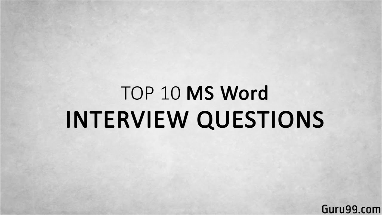 top microsoft word interview questions answers