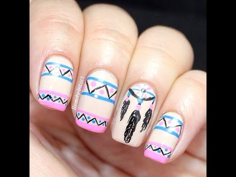 Diy Dreamcatcher Nail Art Tutorial Beauty Intact Youtube